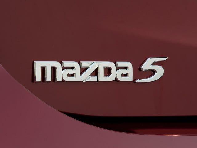 De Mazda5 6MT gaf me een schrik vanavond