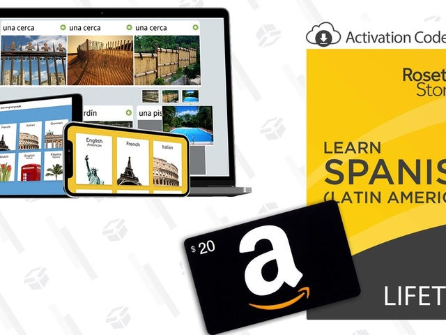 Save $120 On a Lifetime Rosetta Stone Membership, Plus a $20 Amazon Gift Card