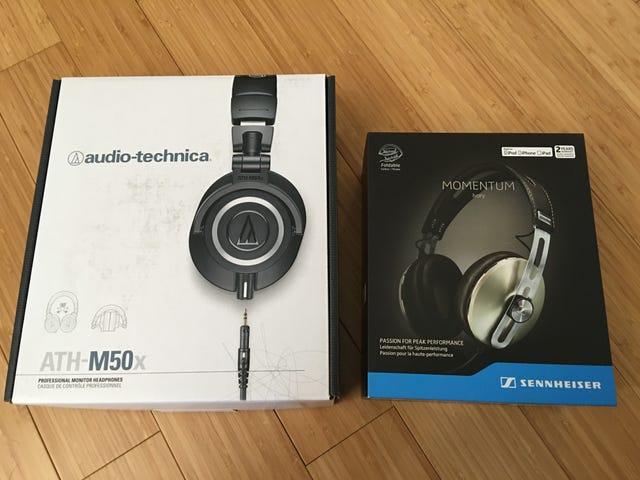 Headphone Comparison: Sennheiser Momentum 2.0 over-ear vs. Audiotechnica ATH-M50x