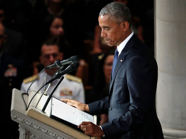 Barack Obama Delivers Touching Eulogy at John McCain's Funeral
