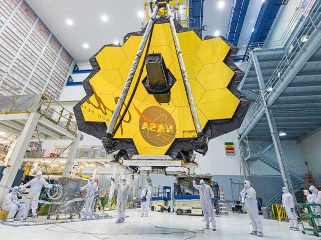 El gigantesco telescopio espacial Webb für die NASA-Weltmeisterschaft 2020. Die NASA hat einen Retrosado, Nuevo, el…