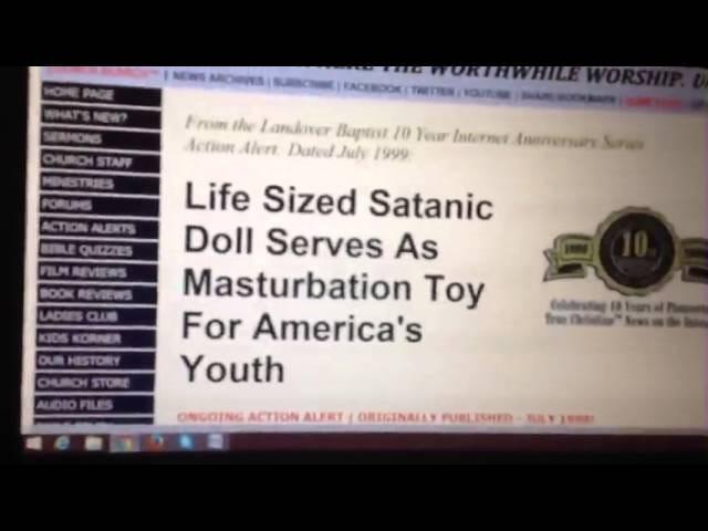 Satanic Doll Berukuran Hidup Berfungsi Sebagai Mainan Masturbasi Untuk Pemuda Amerika!
