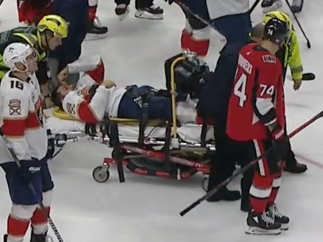 Vincent Trocheck Taken Off Ice On Stretcher After His Leg Does Several Wrong Things All At Once