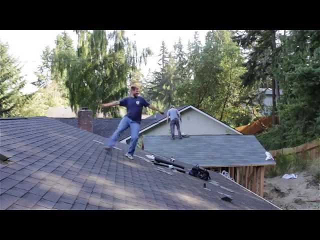 Watch This Roofer Become a Slave to the Rhythm