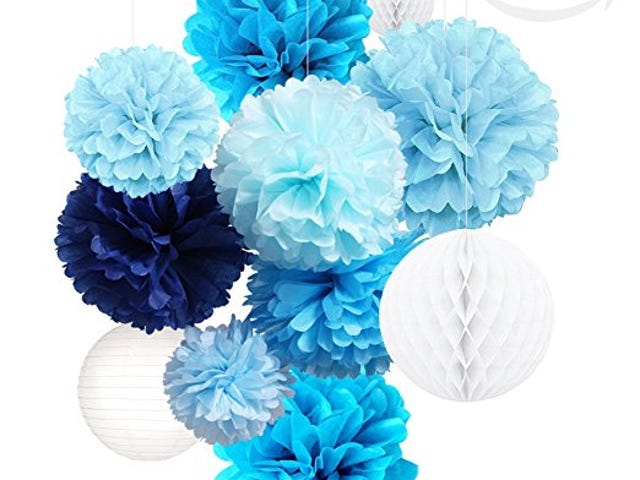 60% Off Blue Decoration Party Kit di Amazon