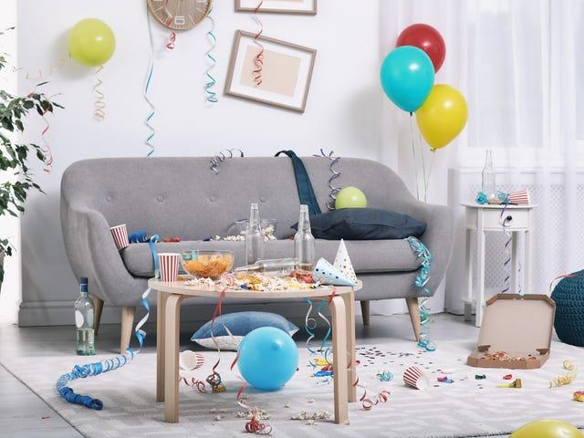 举办小型派对减少家庭混乱