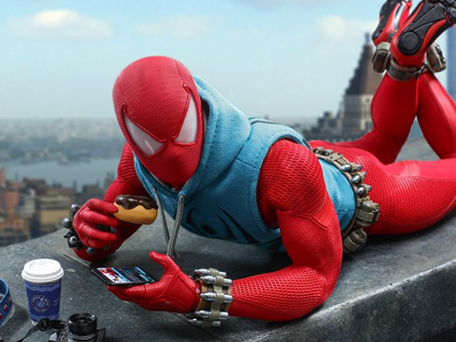 How Is This Scarlet Spider Figure Meant to Eat This Donut?