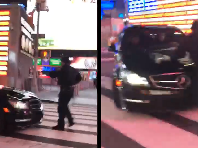 Video Shows NYPD Cop Get Hit By A Mercedes-Benz C63 AMG Drifting Through Times Square