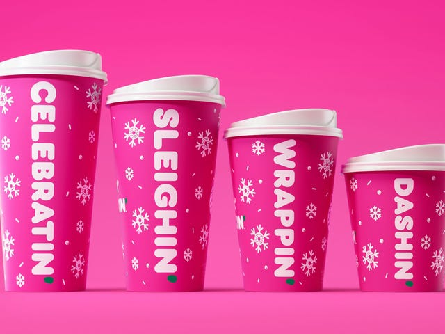 Dunkin's holiday cups totally sleigh