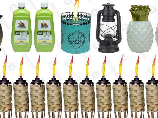 Light Up Your Patio With This One-Day Torch and Candle Sale