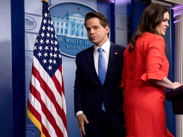 Anthony Scaramucci Has Some Opinions On Sarah Huckabee Sanders' Hair and Makeup