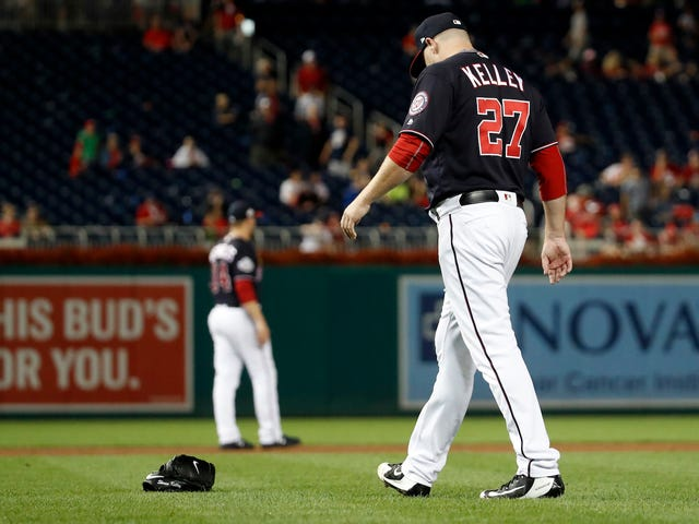 Shawn Kelley's Glove-Throwing Meltdown Will Cost Him His Spot On The Nationals