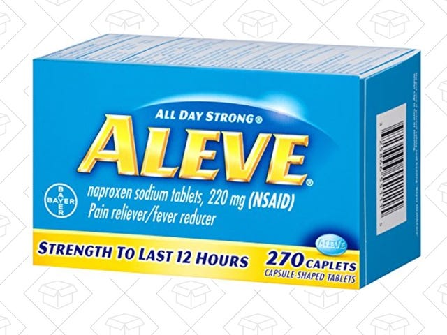 Ease Your Hangovers (Or Any Pain) With This $6 270-Count Bottle of Aleve