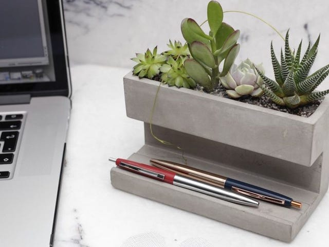 Pour Some Affordable Concrete on to Your Desk with Kikkerland [Updated]