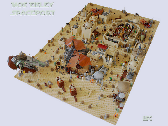 No One's Missing From This Fan-Made LEGO Mos Eisley Spaceport
