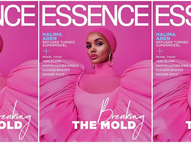 Pretty in Pink: Halima Aden é a primeira estrela de capa da Essence a usar o Hijab
