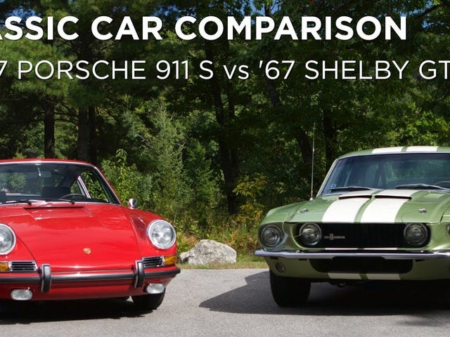 I got paid to drive a '67 911S and a '67 GT500 and decide which was better
