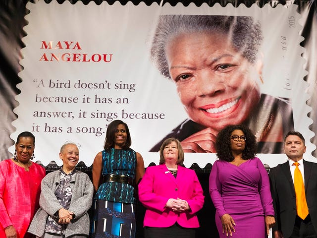 New stamp features fake quote from Maya Angelou