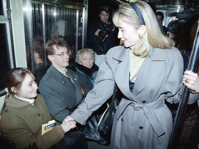 This Isn't Hillary Clinton's First Campaign Subway Ride