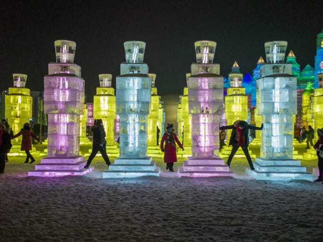 An Otherworldly Village Made Entirely from Ice Sculptures