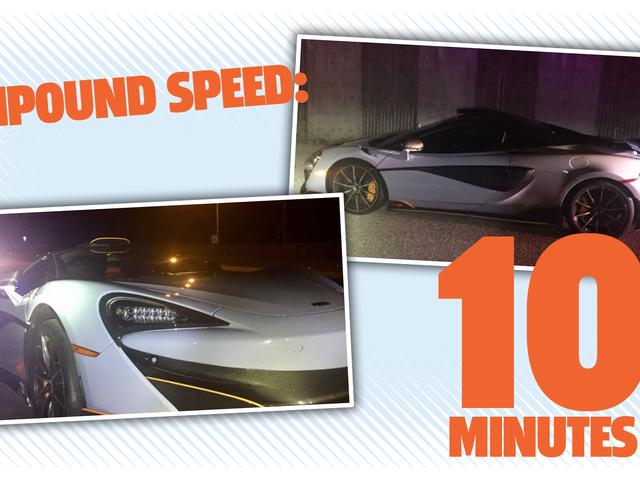 Чоловік володіє McLaren протягом 10 хвилин, перш ніж його витіснили