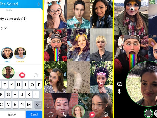 Snapchat Announces Group Video Chat Feature That Instagram's Probably Going to Steal