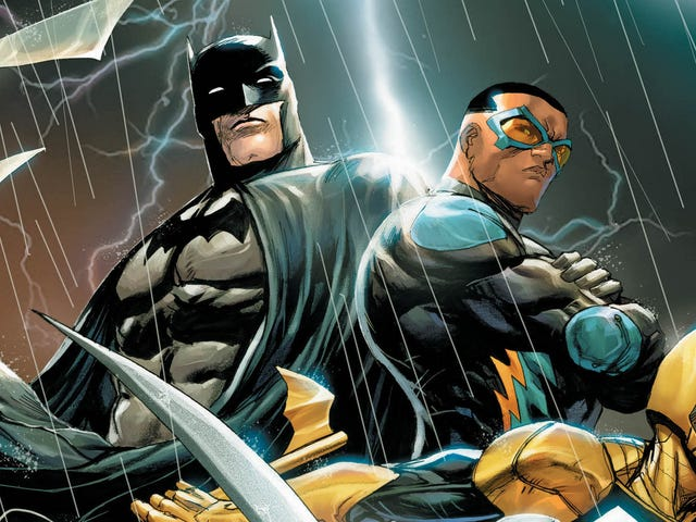 A new superhero team takes action in this Batman And The Outsiders #1 exclusive
