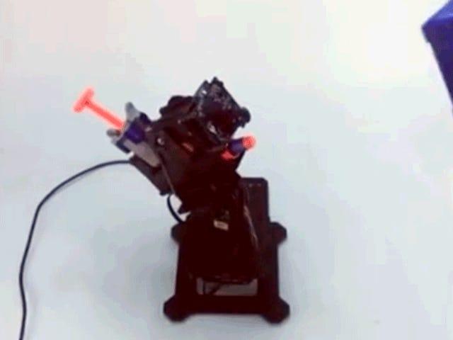 Sizin için tüm amaçlayan bu otomatik izleme Nerf nöbetçi silah inşa