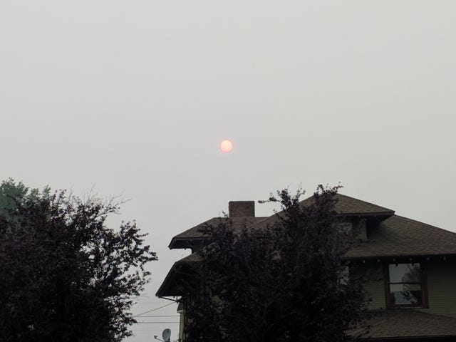 Today's fire smog report
