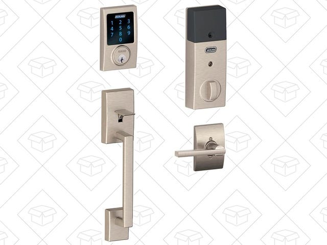 Lock In The Lowest Price We've Seen On This Schlage Touchscreen Deadbolt