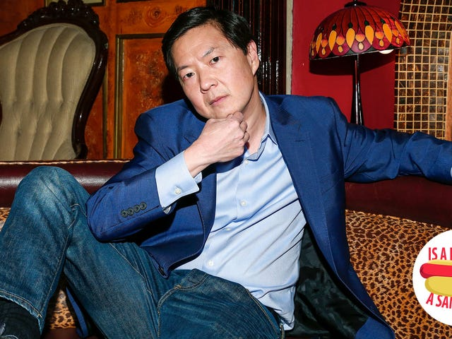 Hey Ken Jeong, is a hot dog a sandwich?