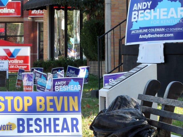 Demokraten ser ut til å vinne Kentucky guvernørløp etter at republikansk sittende dobler seg ned på abort