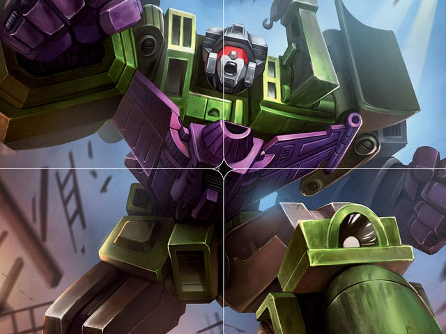 It Takes Six Transformers Trading Cards To Build Devastator