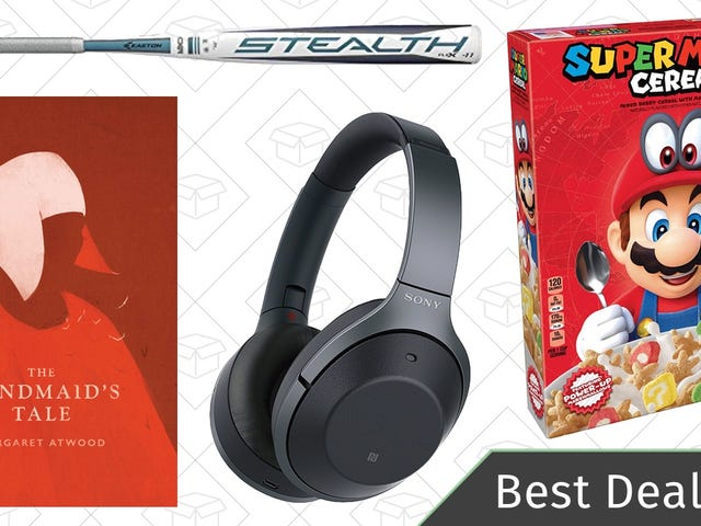 Sunday's Best Deals: Super Mario Cereal, Noise Canceling Headphones, Ebooks, and More