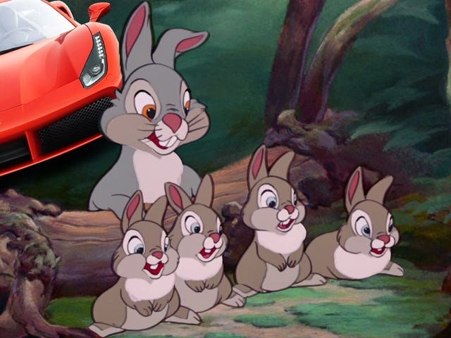 Ferrari Crash Proves You Don't Swerve For The Cute Little Animals
