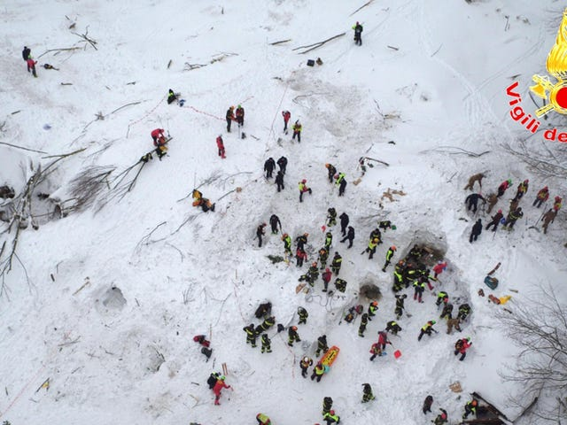 Ten Survivors Pulled From Italian Hotel Following Devastating Avalanche (Updating)