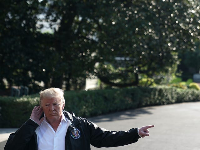 Our Trash President Visits North Carolina, Cracks Jokes With Hurricane Victims