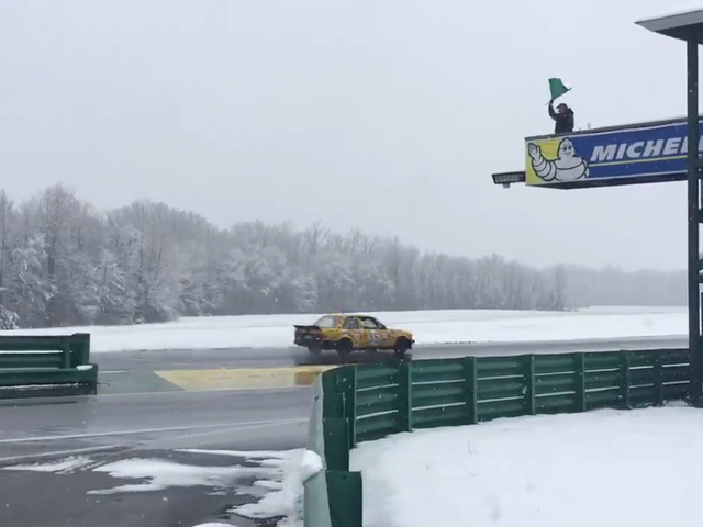 No One Expected Snow On These Tracks But Racers Are Running Them Anyway