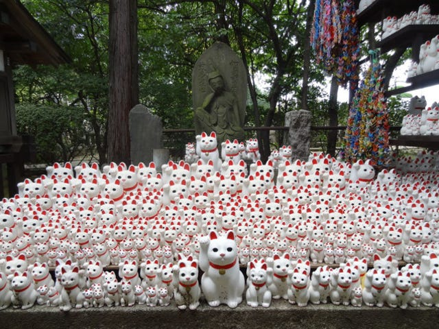The Super Lucky Cat Has Its Own Buddhist Temple