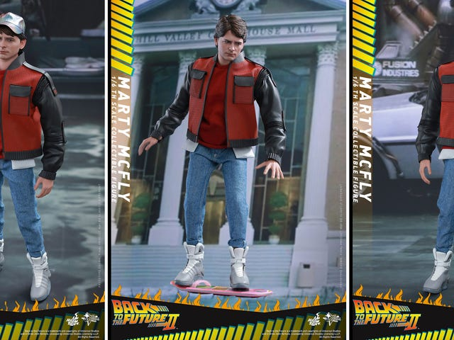 The New BTTF II Marty Figure Is the Cheapest Way to Get Nike's Futuristic Sneakers