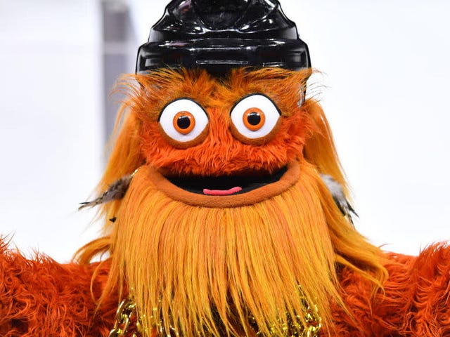 Sadly, you cannot eat the 800-pound Gritty statue made of butter