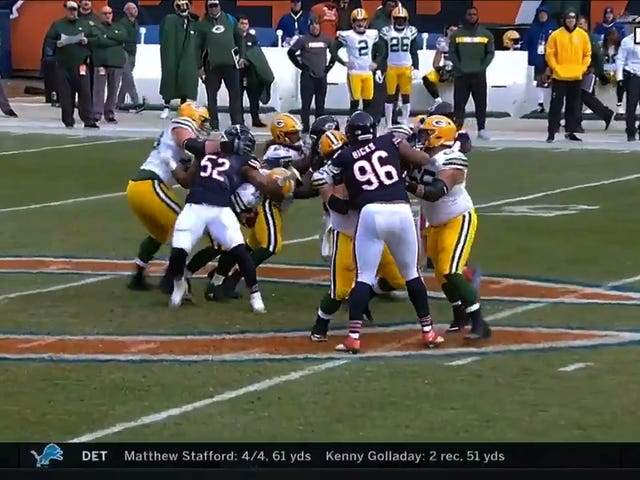 Khalil Mack Uses His Butt To Earn Half A Sack