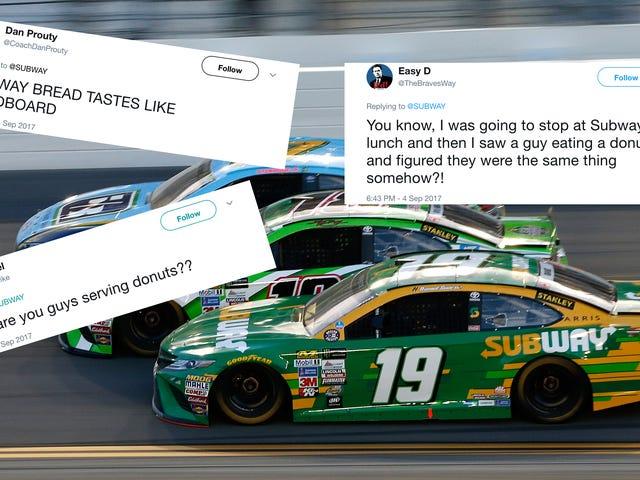 Θυμωμένοι ανεμιστήρες NASCAR ψήνονται υπόγεια για την απόσπαση της χορηγίας του Suárez πάνω από ένα Donut