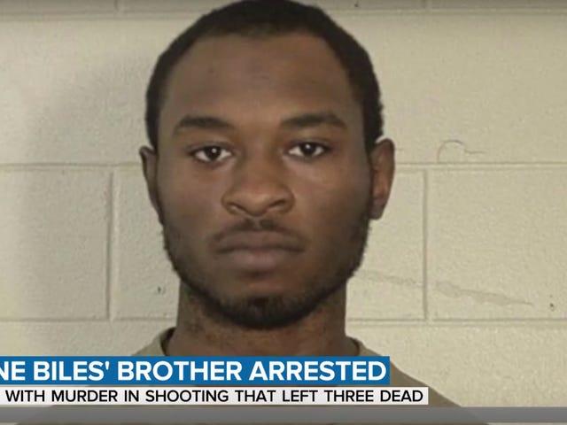 Simone Biles bror siktet for trippelmord