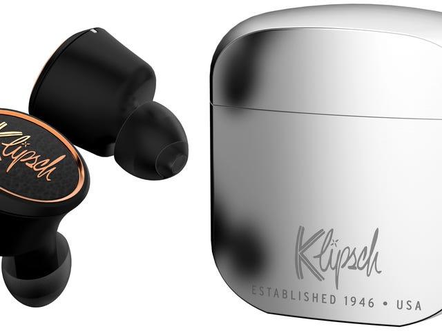 Klipschs nye trådløse ørepropper gir meg en Zippo-lignende ladetaske