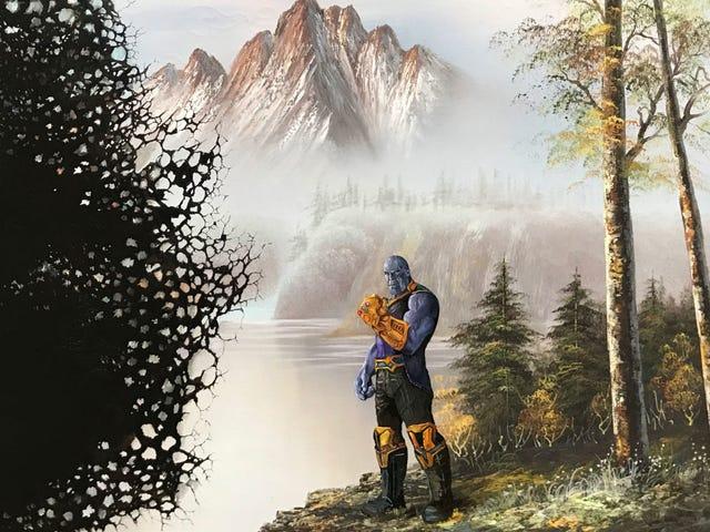 Pop-kulttuurin kuvakkeet kuten Thanos, Godzilla ja The Matrix harppaus tämän taiteilijan mielikuvituksesta ja vanhoista maalauksista