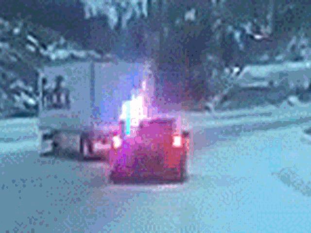 Even The Cops Appreciate When You Turn A Near-Crash Into A Sweet Drift