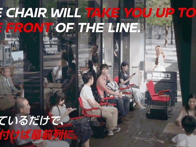 Selvkørende stole gør det så meget lettere at vente på linje