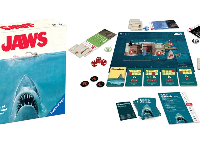 Everyone Will Fight Over Who Gets to Play the Shark in This New Jaws Board Game