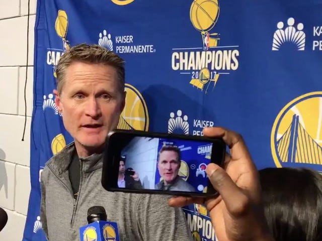 "Steve Kerr: ""It Doesn't Seem To Matter To Our Government That Children Are Being Shot To Death"""